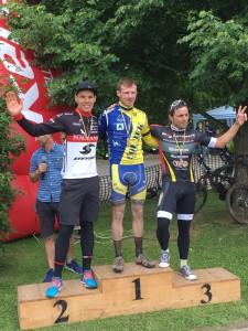 Siegerehrung Landesmeisterschaften MTB Marathon in Biesenrode.