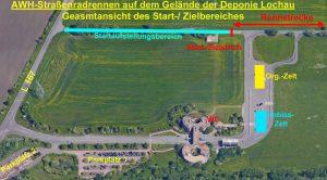 Zufahrt, Parkplatz und Wettkampfareal
